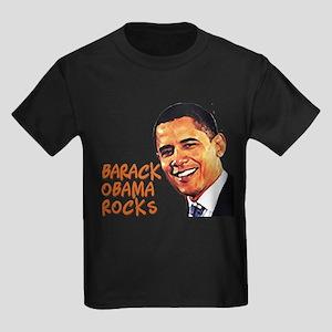 Barack Obama Rocks Kids Dark T-Shirt