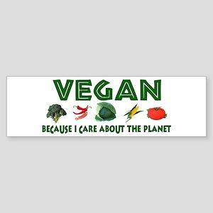 Vegans Care About Planet Bumper Sticker
