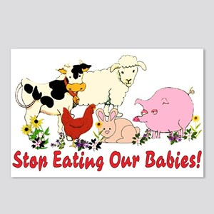 Stop Eating Our Babies Postcards (Package of 8)