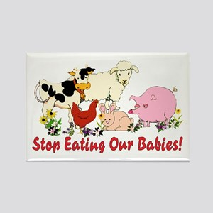 Stop Eating Our Babies Rectangle Magnet