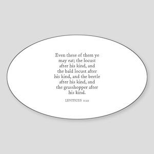 LEVITICUS 11:22 Oval Sticker