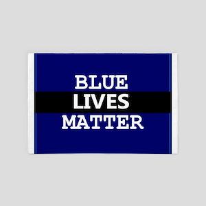 BLUE LIVES MATTER 4' x 6' Rug