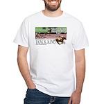 Track King White T-Shirt (Colour image)