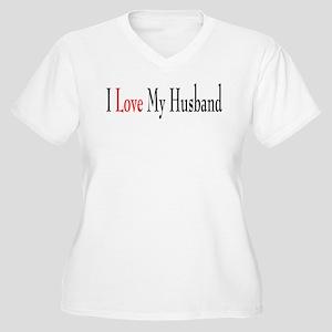 I Love My Husband Women's Plus Size V-Neck T-Shirt