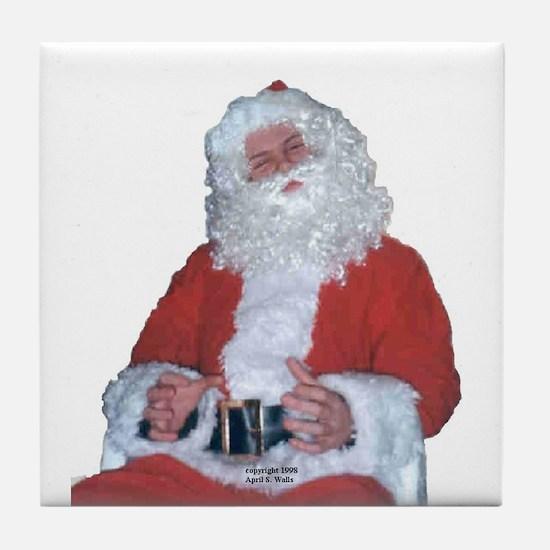 Jolly Santa Tile Coaster