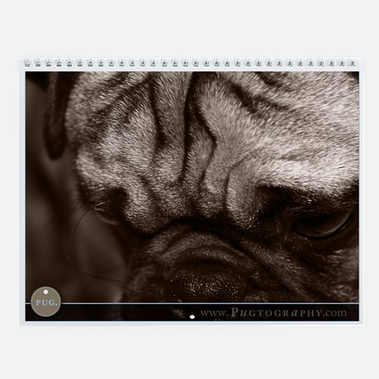 Pug Dog Wall Calendar by Pugtography