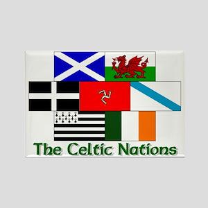Celtic Nations Rectangle Magnet