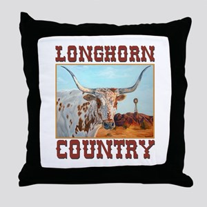 Longhorn country Throw Pillow
