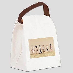 Child Development with Children L Canvas Lunch Bag