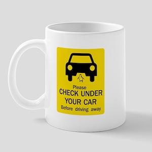 Check Under Car, Australia Mug