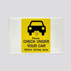 Check Under Car, Australia Rectangle Magnet