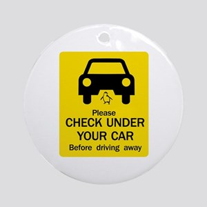 Check Under Car, Australia Ornament (Round)