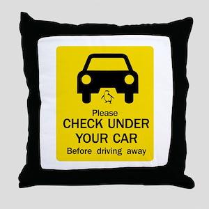 Check Under Car, Australia Throw Pillow