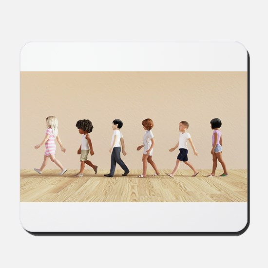 Child Development with Children Learning Mousepad