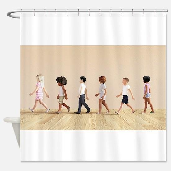 Child Development with Children Lea Shower Curtain