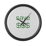 Save Dollars $$$ Large Wall Clock