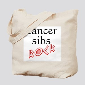 Cancer sibs ROCK Tote Bag