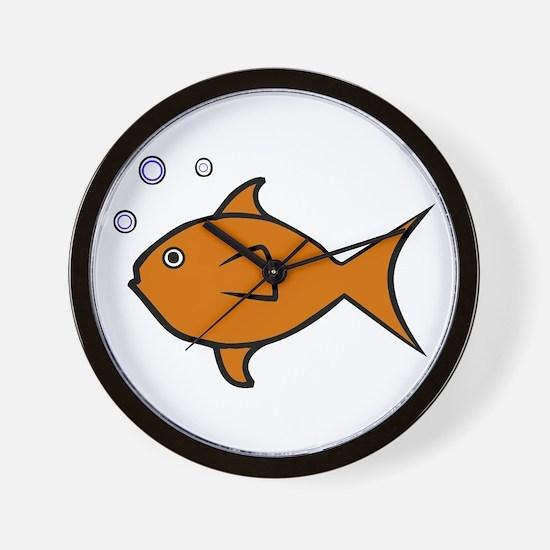 Riyah-Li Designs One Fish Wall Clock