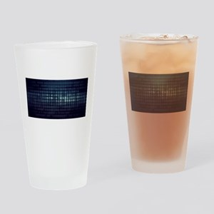 Technology Concept and Digital Data Drinking Glass