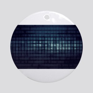 Technology Concept and Digital Data Round Ornament