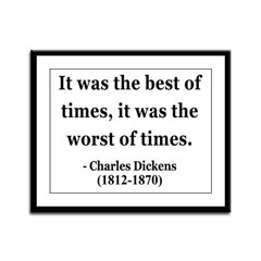 Charles Dickens 2 Framed Panel Print