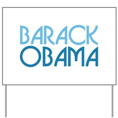 Art Deco Obama Blue Yard Sign