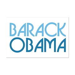 Art Deco Obama Blue Mini Poster Print