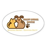 Smart Petz Animal Rescue Oval Sticker (50 pk)