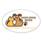 Smart Petz Animal Rescue Oval Sticker (10 pk)