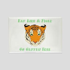 Gluten Free Tiger Rectangle Magnet