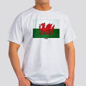 Wales Flag Ash Grey T-Shirt