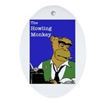 Howling Monkey Oval Ornament