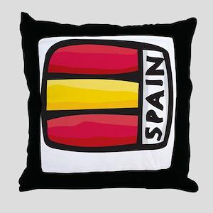 Spain Design Throw Pillow