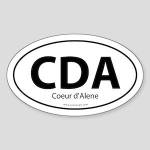 CDA - Coeur d'Alene Euro Style Oval Sticker