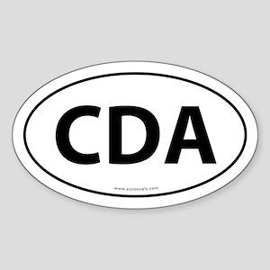 CDA Euro Style Auto Oval Sticker -White