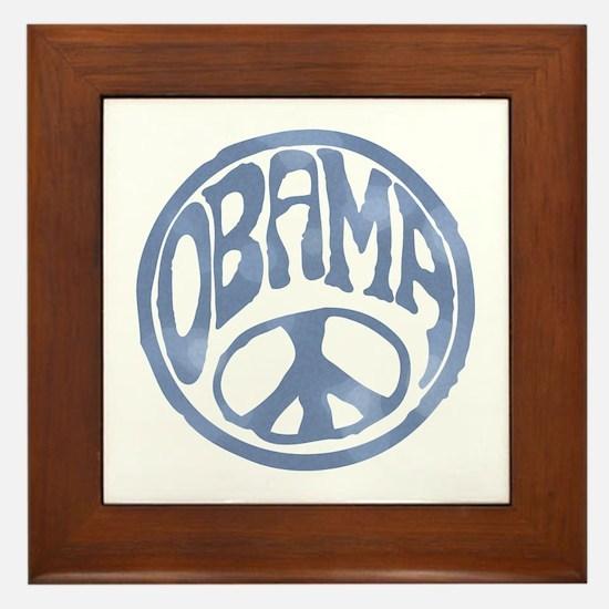 Obama - 60's Stamp Framed Tile