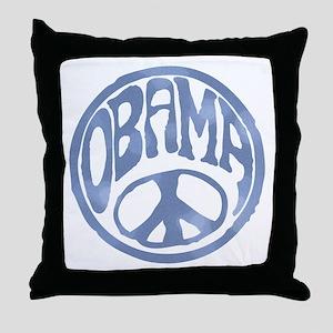 Obama - 60's Stamp Throw Pillow
