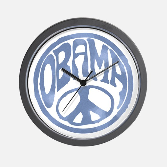 Obama - 60's Stamp Wall Clock