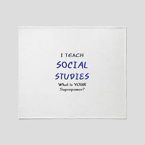 teach social studies Throw Blanket