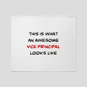 awesome vice principal Throw Blanket