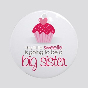 sweetie big sister shirt Ornament (Round)