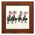 Rodeo Flag Team Framed Tile