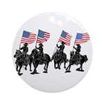 Rodeo Flag Team Ornament (Round)