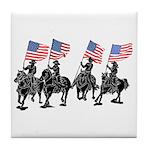 Rodeo Flag Team Tile Coaster
