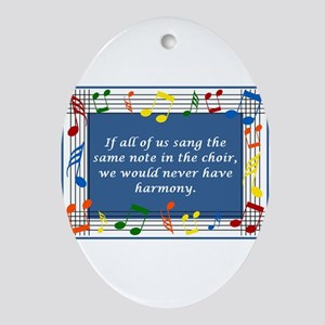Harmony Oval Ornament