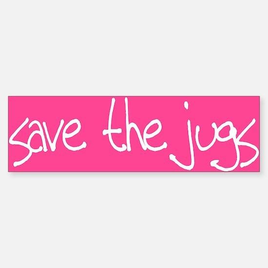 Save the Jugs Bumper Bumper Bumper Sticker