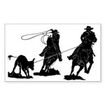 Team Roping Rectangle Sticker 10 pk)