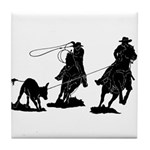 Team Roping Tile Coaster