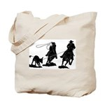 Team Roping Tote Bag