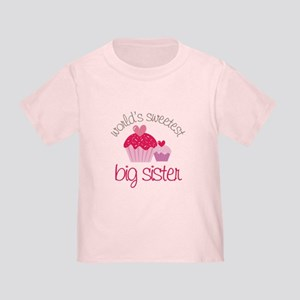 world's sweetest big sister Toddler T-Shirt